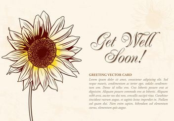 Free Drawn Sunflower Vector Illustration - бесплатный vector #157001