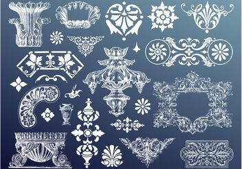 Antique Designs - vector gratuit #157121