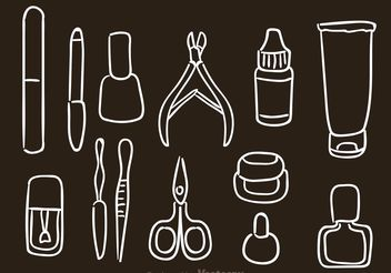 Hand Drawn Manicure Pedicure Vector Icons - vector gratuit #157231