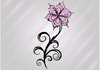 Free Flower Vector Drawing - Free vector #157241