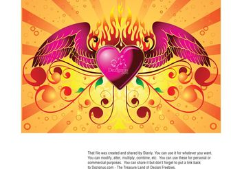 Wild at Heart - vector gratuit #157371