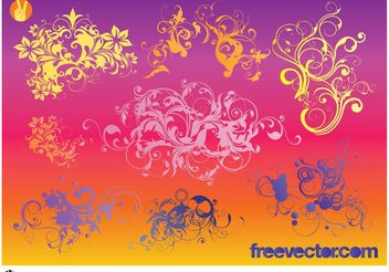 Ornaments Vectors - vector gratuit #157421