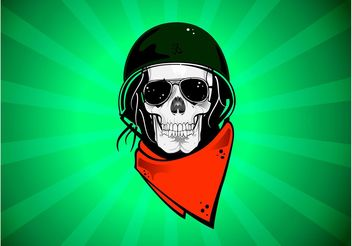 Rebel Skull - vector #157491 gratis