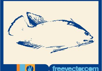 Fish Sketch - vector gratuit #157531