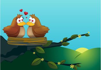 Love Birds Vector - vector #157671 gratis