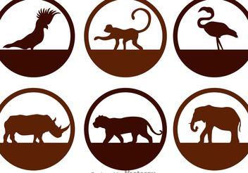 Wild Animals Silhouette Icons - Free vector #157741