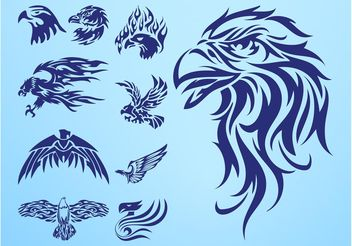Eagle Tattoos - vector #157781 gratis