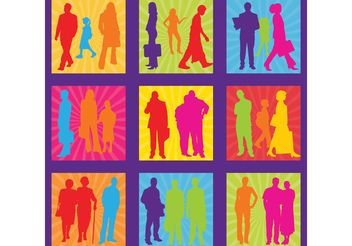 Free People Silhouettes Vectors - бесплатный vector #157931