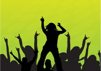 Dancing Crowd Vector - vector gratuit #157991