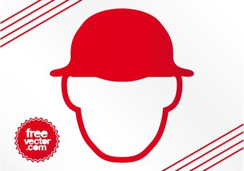 Man With Hat Icon - vector gratuit #158141