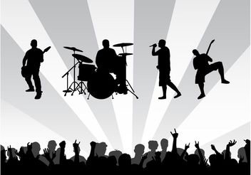 Band Concert Background - vector gratuit #158161