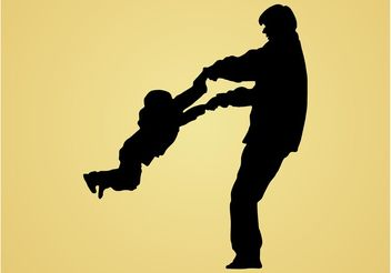 Father And Son - vector gratuit #158181
