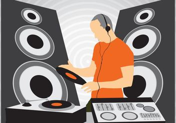 DJ at Work - vector gratuit #158211