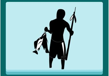 Fishing Man - vector gratuit #158411