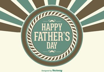 Father's Day Illustration - vector #158441 gratis