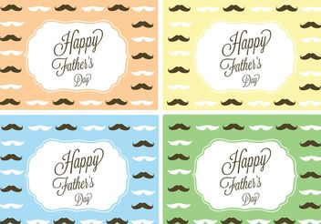 Free Vector Happy Father's Day Card - Kostenloses vector #158451