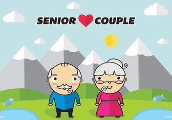 Senior Couple Vector Free - Free vector #158481