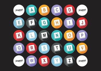 Scrabble Alphabet Vector Free - бесплатный vector #158491