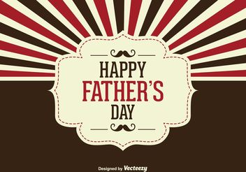 Father's Day Vector Illustration - бесплатный vector #158501