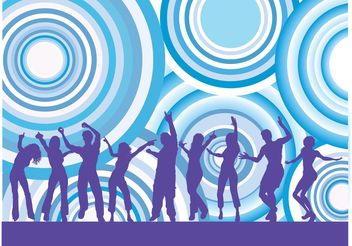 Dancing People Vector - vector #158561 gratis