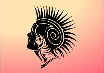 Mohawk Girl Vector Design - Free vector #158591