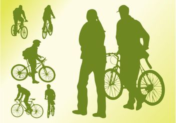 Bikers Vector Silhouettes - Free vector #158651