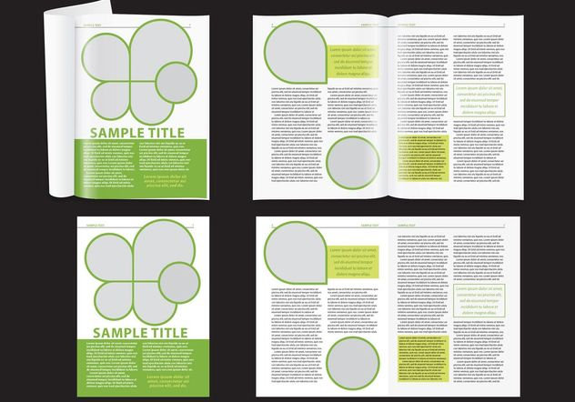 Modern Green Magazine Layout - Free vector #158701