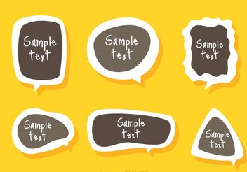 Text Box Template Sticker Vector - vector gratuit #158731