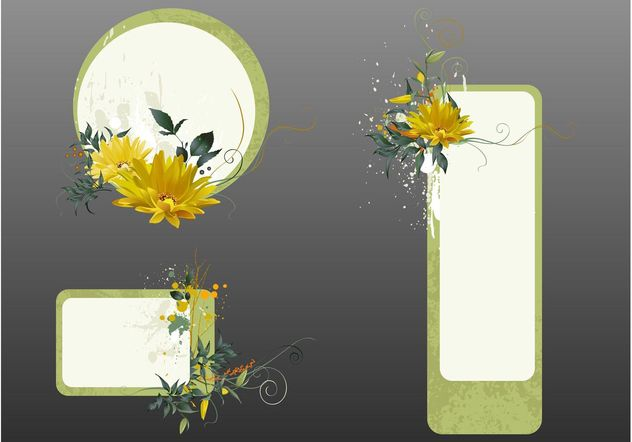 Floral Label Templates - vector gratuit #158761