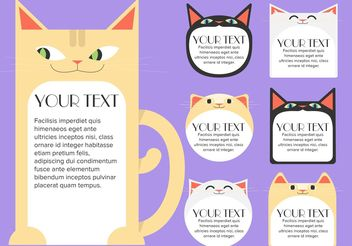 Cat Text Box Tempalte Free Vector - Free vector #158821