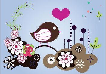 Spring Bird Layout - vector gratuit #158861