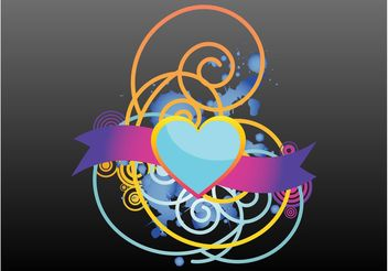 Heart Vector Layout - vector gratuit #158871