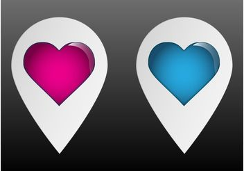 Heart Pointers - vector gratuit #158941