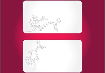 Floral Cards Templates - Free vector #158971