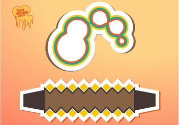 Sticker Shapes - vector #159071 gratis