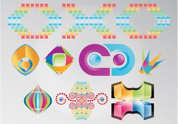 Rainbow Colored Logos - Kostenloses vector #159081