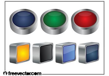 3D Buttons Graphics - Free vector #159141