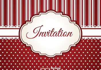 Invitation Template - vector gratuit #159171