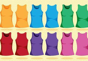 Colorful Tank Top Template - vector gratuit #159191