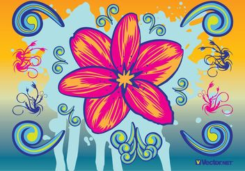 Beautiful Flowers - vector gratuit #159221