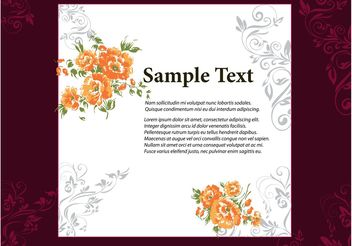 Floral Frame Vector - Free vector #159241