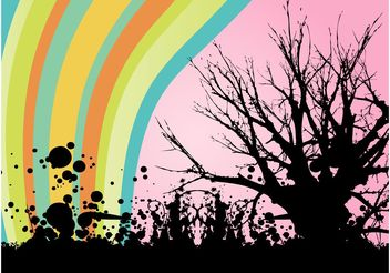 Graffiti Tree - vector gratuit #159311