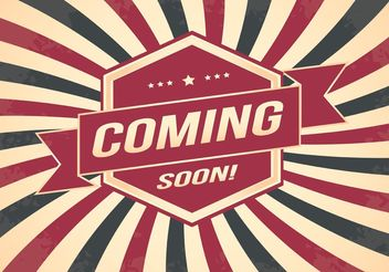 Coming Soon Retro Style Background - vector gratuit #159411