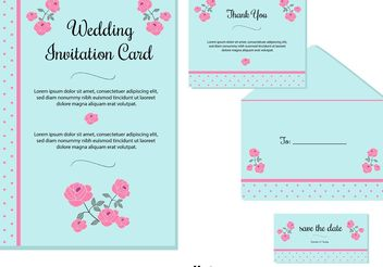 Wedding Invitation Cards - vector gratuit #159431