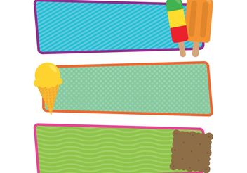 Free Vector Ice Cream and Popsicle Banners - бесплатный vector #159451