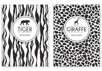Free Wild Animal Prints Vector Cover - Free vector #159511
