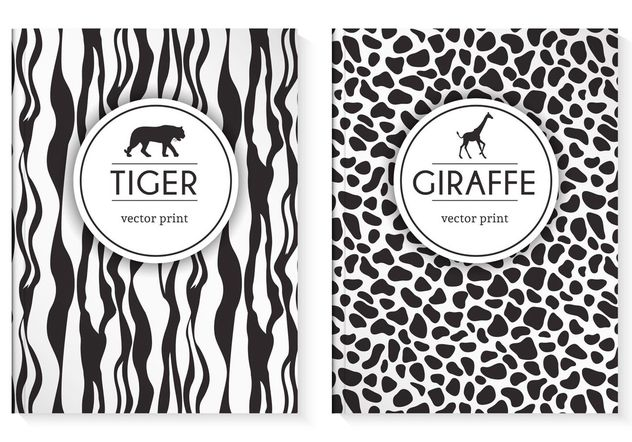 Free Wild Animal Prints Vector Cover - vector gratuit #159511