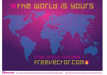 Free Dotted World Map - Free vector #159541