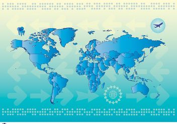 World Map Countries - vector #159561 gratis