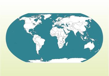 World Map Illustration - vector #159581 gratis